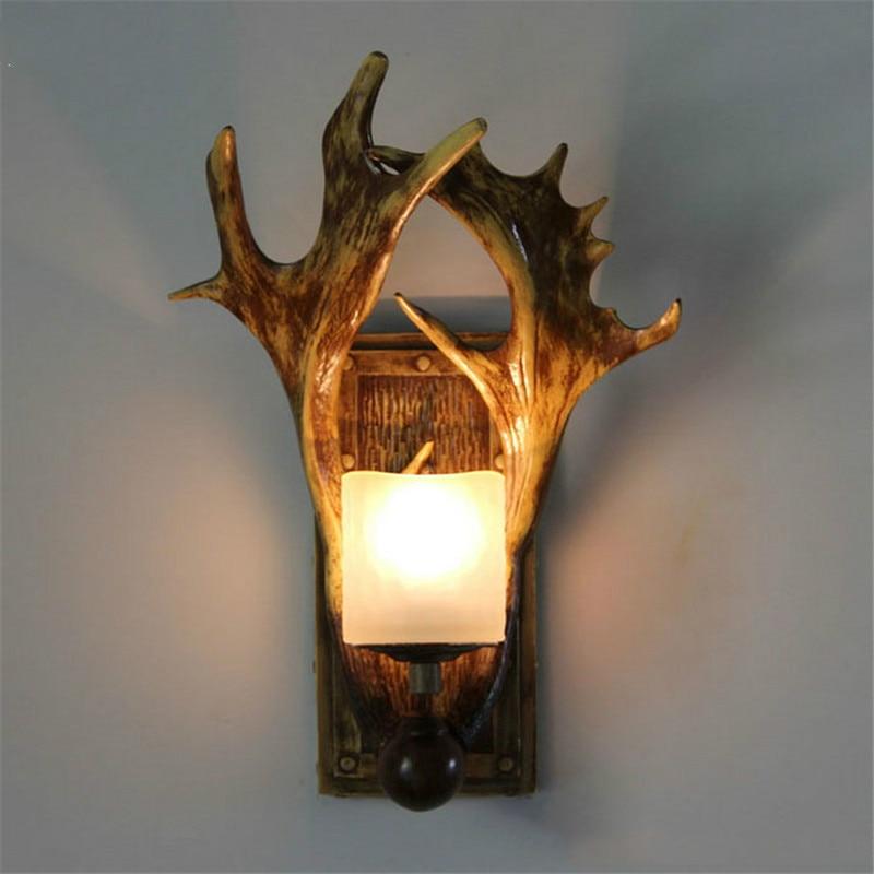 Antler Wall Sconces Bedside Lamp Home Decor Candle Holder Lighting ...