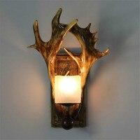 Antler arandelas de parede lâmpada cabeceira decoração casa suporte vela luminária decorativa luz da noite para o quarto corredor caminho