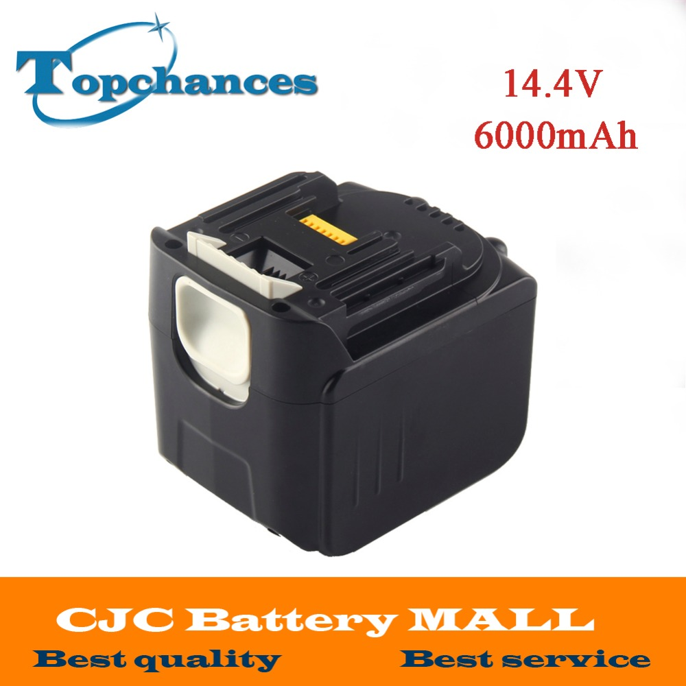 High Quality Newest 6000mAh 14.4V Li-ion Power Tool Battery for Makita Drills 194065-3 BL1415 BL1430 MET1821 LXPH02 Battery 18v 6000mah rechargeable battery built in sony 18650 vtc6 li ion batteries replacement power tool battery for makita bl1860