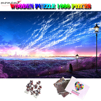 MOMEMO Overlook The City Adults 1000 Pieces Interesting Jigsaw Puzzle Wooden Puzzle Brain challenging Toys 1000 Piece Puzzles