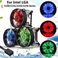 LED CPU Cooler Fan Heatsink Radiator For Intel LGA 1150 1151 1155 1156 Series High Quality