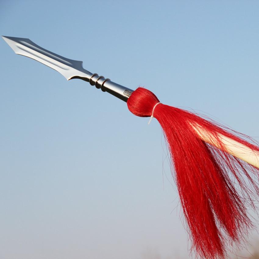 shaolin nizə Hong Ying silah Wushu nizə döyüş sənəti nizə rəqabət stick kung fu heyəti wushu taolu stick