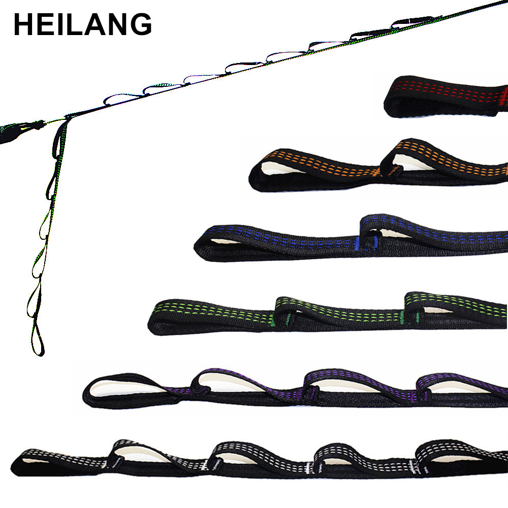 2 PCS Out Door Camping Hiking Hammock Hanging Belt Hammock Strap Rope Accessories Load Bind Rope Hanging Tree Rope Hamak Hamac