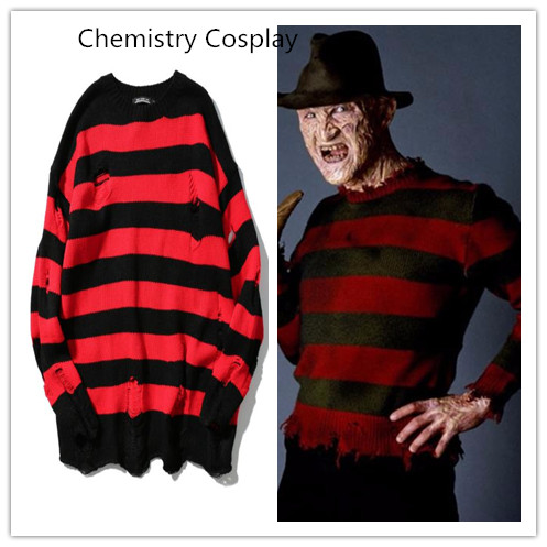 NEW A Nightmare on Elm Street Freddy Cosplay Sweater Costume