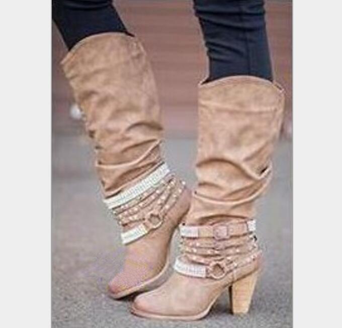 Pompes Ab1116 grey Talons Mode Ete Automne Chaussures Hiver khaki Dames black Beige olive Femme Femmes Cuissardes Belle De Plissée Hauts Chaussons brown orange MVjqzLUSpG