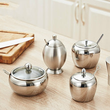 Kitchen Gadgets Herb Spice Tools Stainless Steel Salt Sugar Seasoning Pot Bottle Utensils