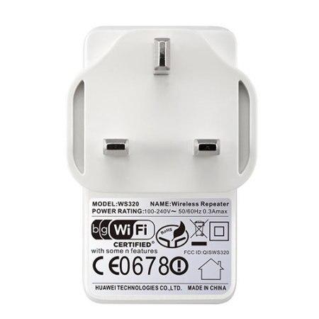 Huawei Ws320 Wi-Fi Repeater Mini Wifi Amplifier Range Extender Uk 3-Pin Plug