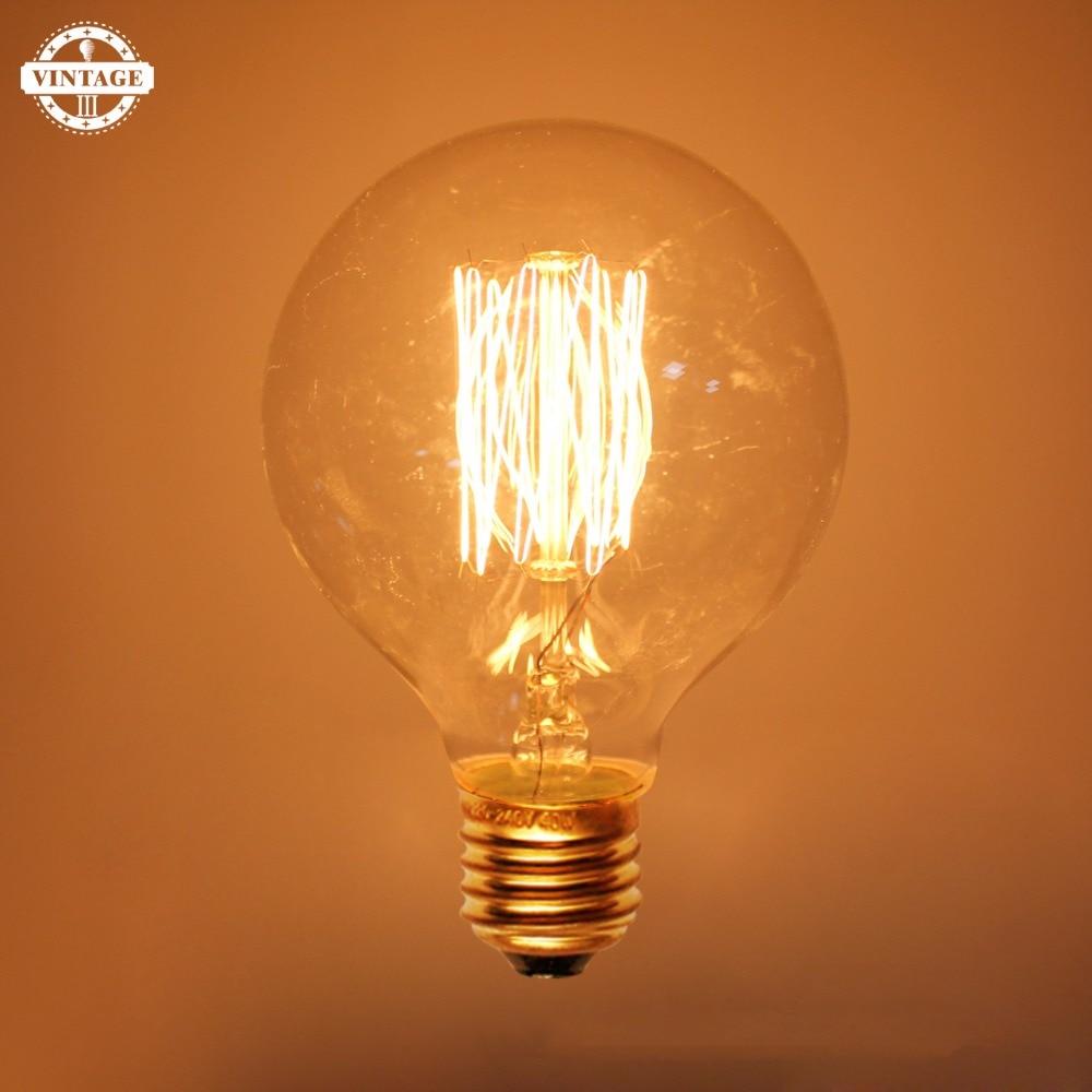 Lightinbox Vintage Retro Edison Light Bulbs E27 40W Incandescent Light Bulb G80 G95 G125 Filament Bulb Lighting Tubes Edison
