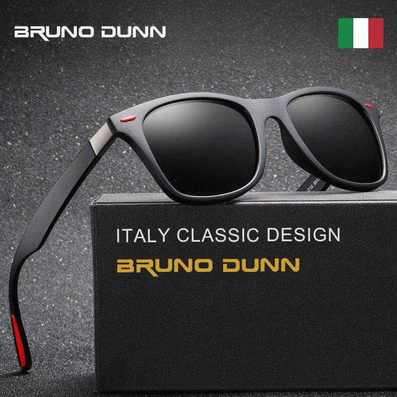Bruno Dunn Clássico design Da Marca Polarizado Sunglases Homens Mulheres  óculos de Sol Quadrado Quadro Glases 39704eda08
