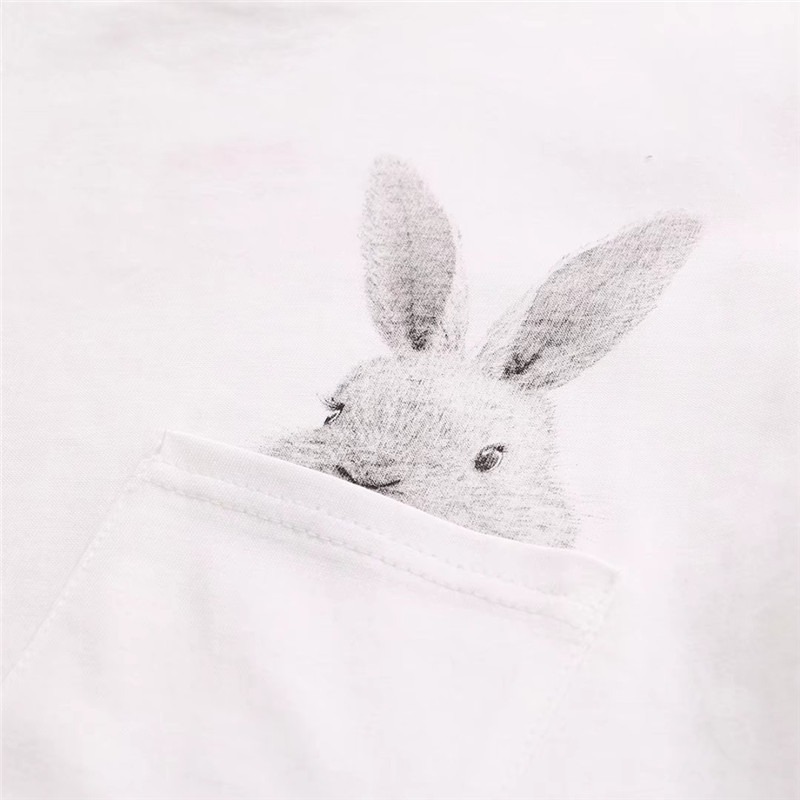 Pocket Rabbit Cute T-shirt 4