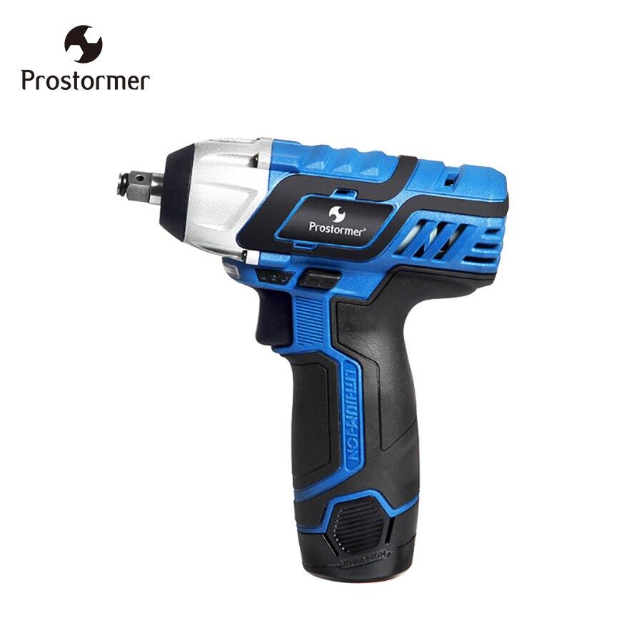 Prostormer Rechargeable Clé Électrique 12 v DC Électrique clé 3/8 Pouces batterie au lithium Sans Fil Clé DIY Ménage outil