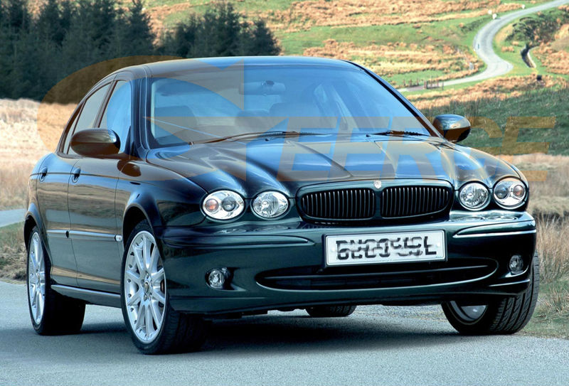 Captivating ... JAGUAR X Type 2002 2008 Headlight Ccfl Angel Eyes(2) ...