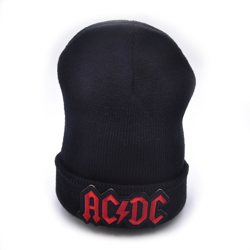 ACDC band  Winter Hats Solid Hat Female Unisex Plain Warm Soft Women's Skullies Beanies Knitted Touca Gorro Caps For Men Women 2017 unisex solid plain warm skullies beanies knitted touca gorro autumn winter caps hip hop slouch skullies for men women