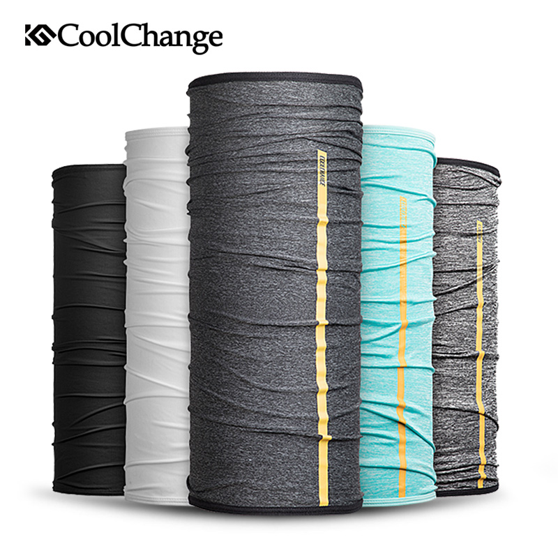 CoolChange Summer Cycling Scarf Outdoor Sports Anti-UV Ice Fabric Bicycle   Headwear   Ride Neck Face Mask Bike Bandana Headband