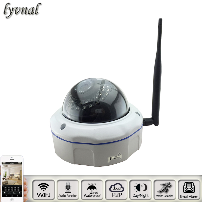 Dome wirless Audio IP Camera 2.0mp Wifi Camera SONYIMX 322 Full HD Security metal explosion-proof Network P2P ONVIF CCTV System audio wireless explosion proof 720p 1 0mp dome ip camera support p2p onvif hpone view cctv security camera free shipping