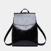 Women Vintage Backpack Designer High Quality Leather Backpacks For Teenage Girls Sac A Main Female School
