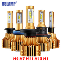 Oslamp S6 H4 H7 H11 9005 9006 H13 LED Car Headlight Bulbs 6500K 70W Pair Hi