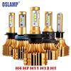 Oslamp S6 H4 H7 H11 9005 9006 H13 LED Car Headlight Bulbs 6500K 70W Pair Hi