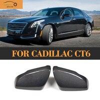 Replacement Carbon Fiber Side Mirror Caps for Cadillac CT6 4 Door Sedan 2016 2017 2018 Mirror Covers Caps