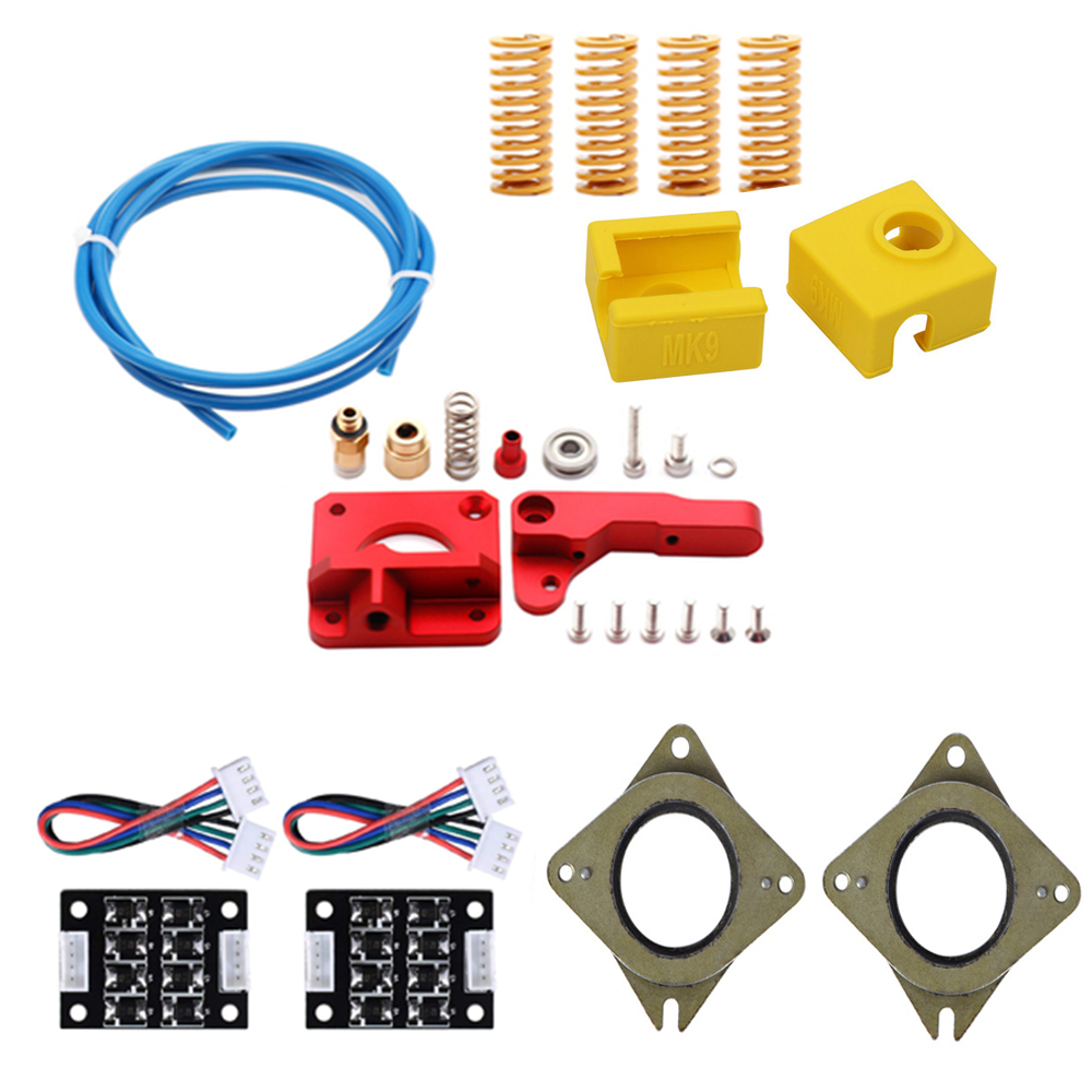 Upgrade Extruder kits MK9 Silicone Sock Teflon Tube NEMA 17 Stepper Damper TL Smoother for Ender