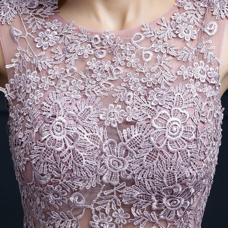 Embroidery Shoulder Straps Satin Long Evening Dress 1