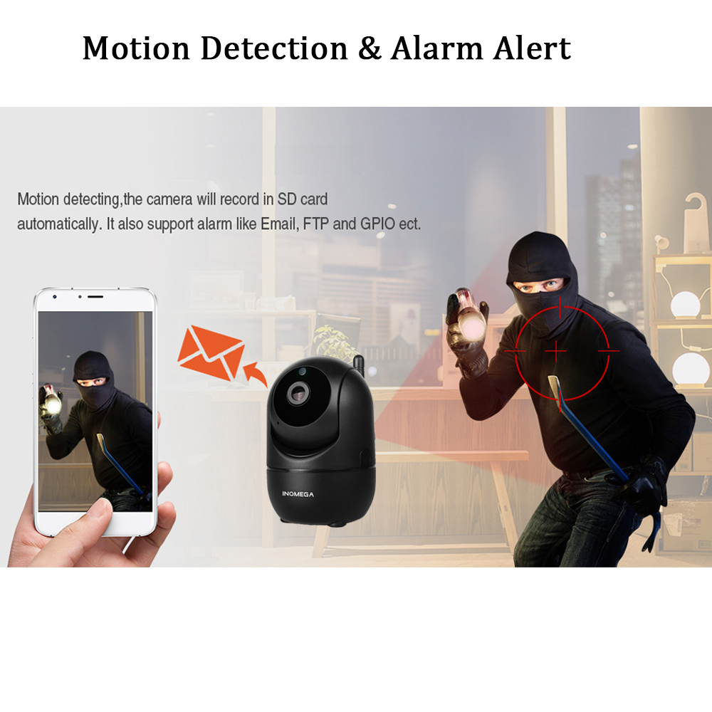 Image 5 - INQMEGA HD 1080P Cloud Wireless IP Camera Intelligent Auto Tracking Of Human Home Security Surveillance CCTV Network Wifi Camera-in Surveillance Cameras from Security & Protection