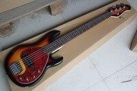 Music man Stingray Bass 5 cuerdas Sunburst bajo eléctrico Guitarras con 9 V batería circuito amplificador pickup activo 85