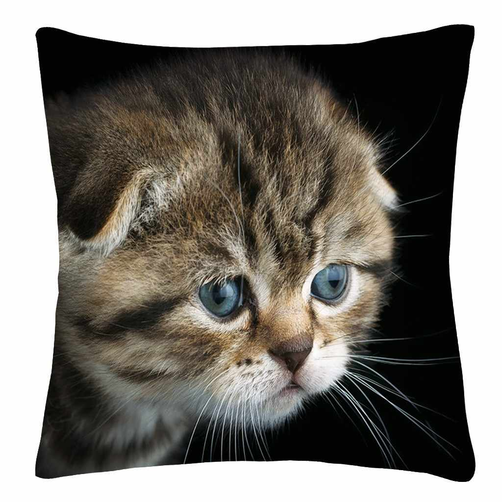 Almofadas decorativas para o sofá 2019 Shining Star Impresso Almofada Do Sofá Throw Pillow bonito gatos imprimir Home Decor coussin decoratif