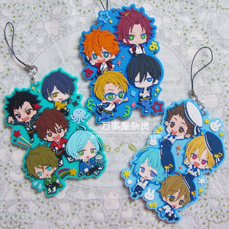 Ensemble Stars Anime Idol High School Game Team Japanese Rubber Keychain ensemble stars 2wink cospaly shoes anime boots custom made