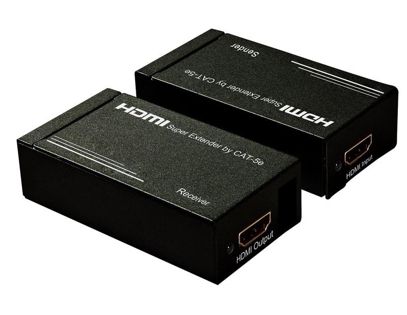 1 Para Super Hdmi Extender Video Signal Verstärker Durch Zwei Cat-5e Rj45 Zu Verlängern 30 Mt 2,25 Ghz Unterstützung 3d Volle Hd 1080 P Hohe QualitäT Und Preiswert