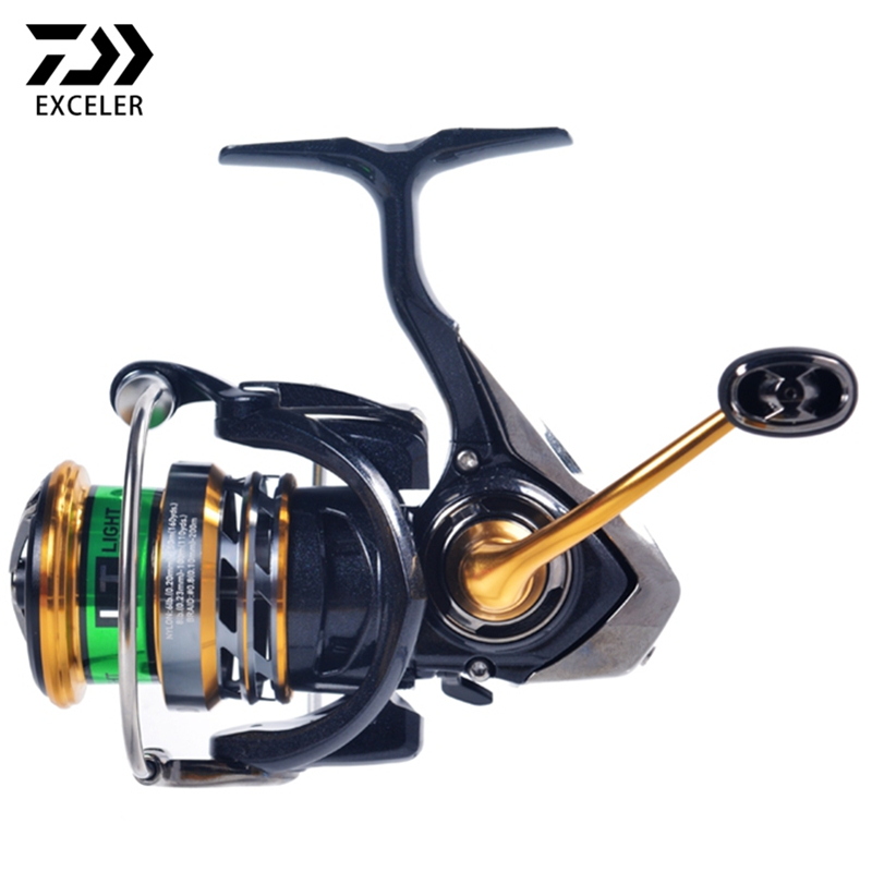 Original DAIWA EXCELER LT Spinning Fishing Reel 1000 2000 3000 6 2 1 High Ratio Freshwater