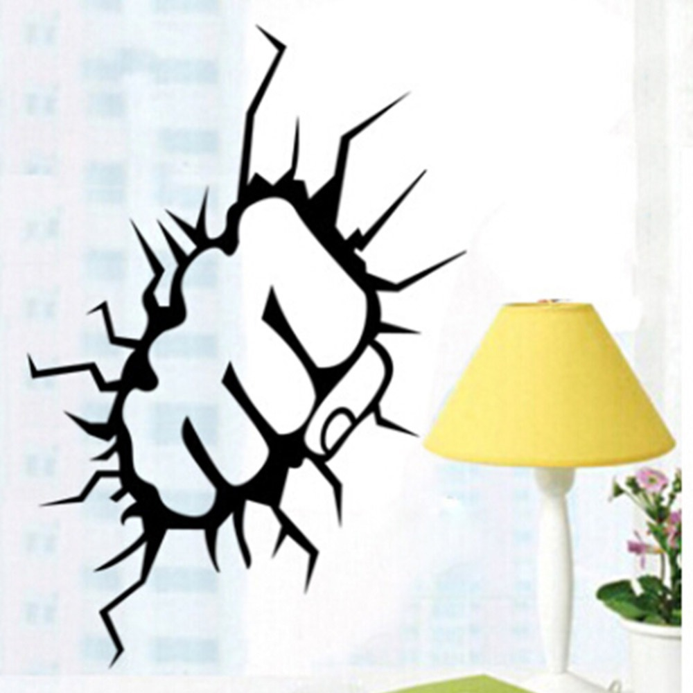 The Incredible Hulk Fist Punch Boys Wall Art Stickers Decal Diy