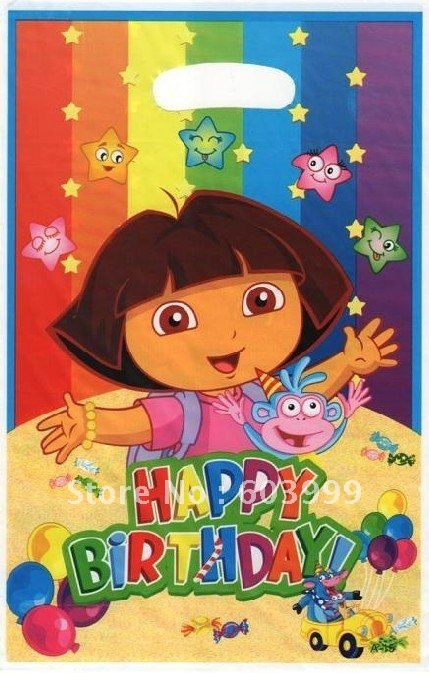 120 X Dora The Explorer Birthday Party Supply Favors Goody Loot Treat Sack Gifts Bags Bag Lolly Free Ship In From Home