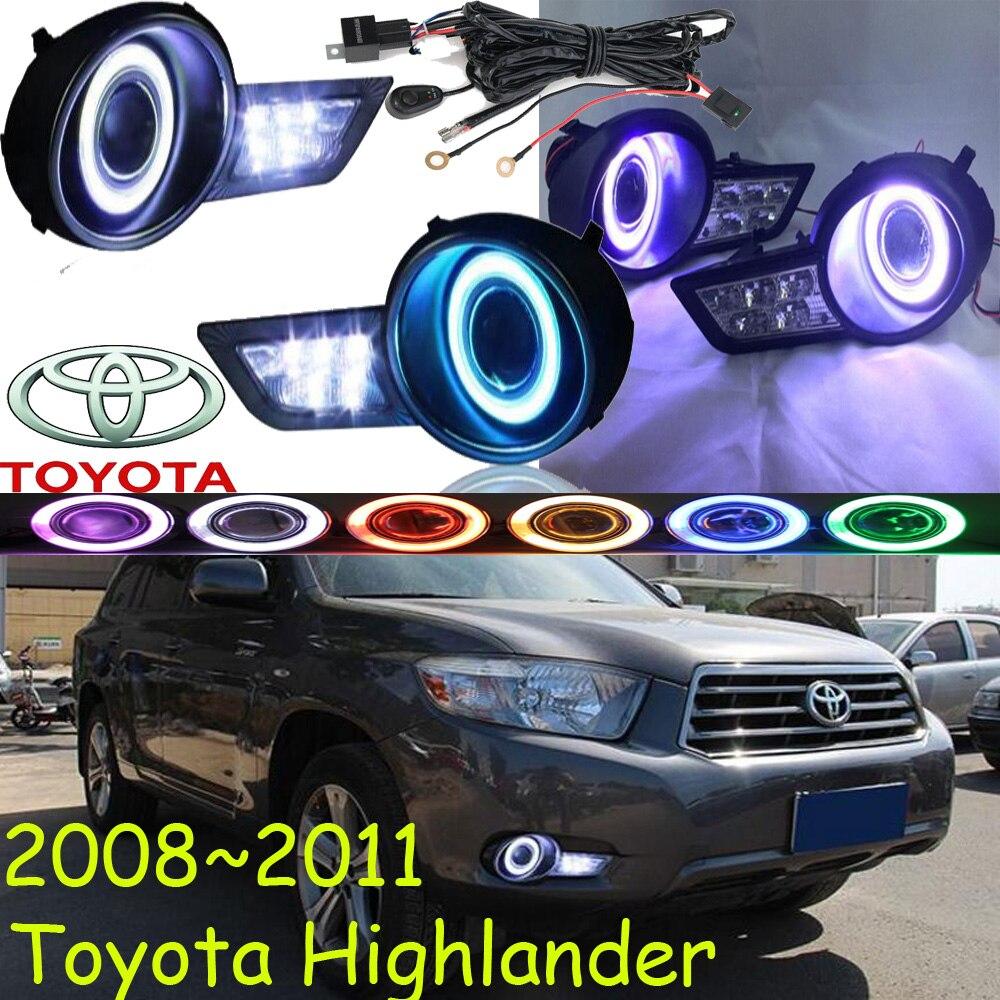 ФОТО Car-styling,Highlander LED fog lamp,2008~2011,chrome,LED,Free ship!2pcs,Highlander head light,car-covers,Halogen/HID+Ballast;