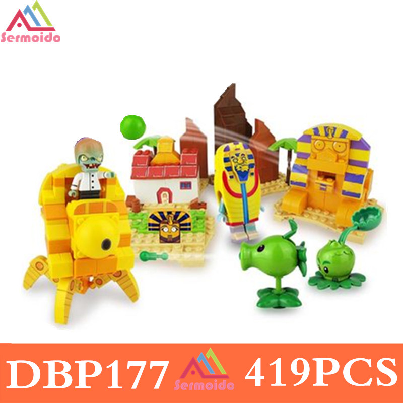 Plants vs Zombies Garden Maze Struck Game Legoe Building Bricks Blocks Set Anime Figures My World Toys For Children Gifts 52pcs set plants vs zombies pvz collection figures toy all the plants and zombies figure toys free shipping