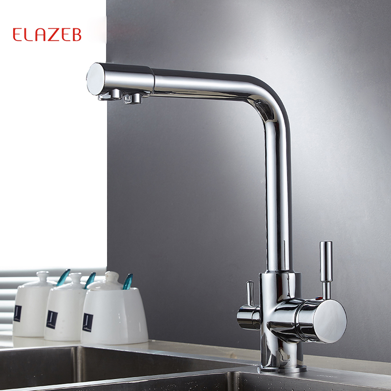 Kitchen Faucet Purified Water Purification Faucets Deck: Elazeb Filter Kitchen Faucets Deck Mounted Mixer Tap