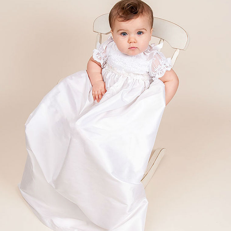 ФОТО With Hat Baby Baptism Dresses Summer style baby dress White and land length lace Baby Girl Birthday christening gowns vestido