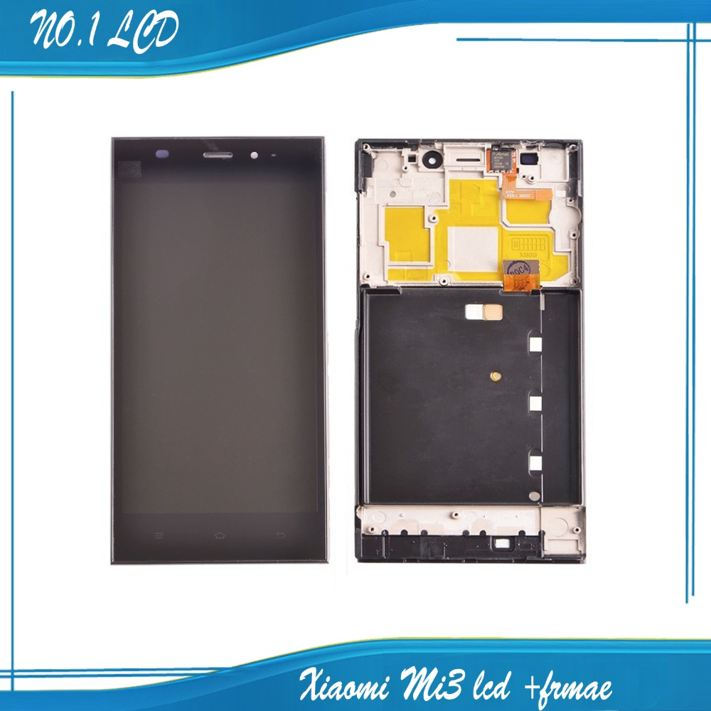 ФОТО WCDMA Version Replacement For Xiaomi Mi3 M3 LCD Display Digitizer Touch for Xiaomi 3 Lcd Screen Assembly with Frame