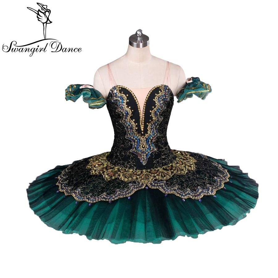 Volwassen zwart groen la esmeralda ballet tutu prestaties - Nieuwe items