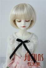 JD256 MSD ynthetic mohair wigs  1/4 7-8 inch Short cut doll wigs transfor cut bjd doll wigs dz sd msd bb syntheitc mohair wigs