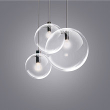 JAXLONG Modern LED Pendant Lights Glass Loft Decor Casual Hanging Lamp Living Room Reading Lustre Suspension Art Dining