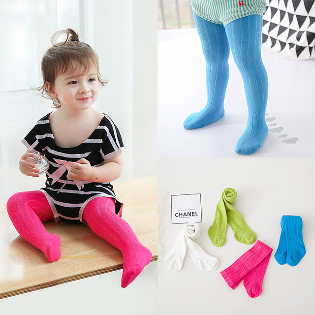 fcd71f3dba245 Free Shipping Cotton Wide Striped Tights for Girls Winter Warm Knitted  Children Tight Pure Color Kids' Pantyhose For Child