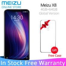 Küresel Sürüm Meizu X8 4 GB 64 GB 4G LTE cep telefonu Snapdragon 710 Octa Çekirdek 6.15 ''2220x1080 P Ekran 3210 mAh Pil Yüz kil...