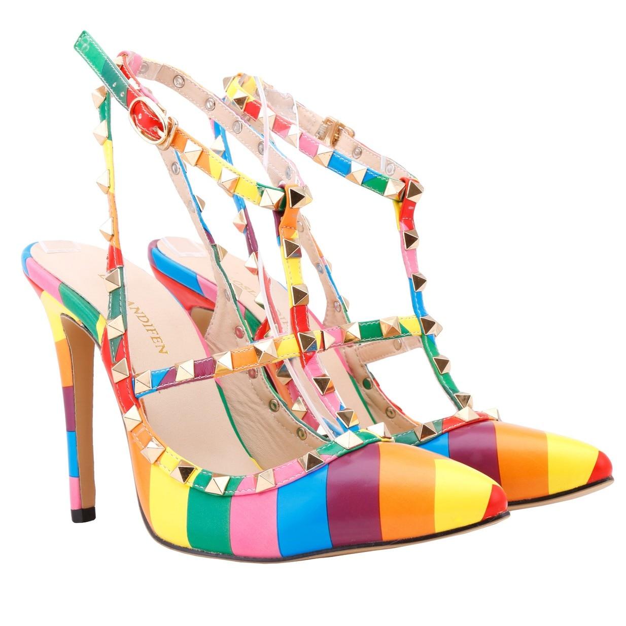 Black rainbow sandals with crystals - Rainbow Sandals