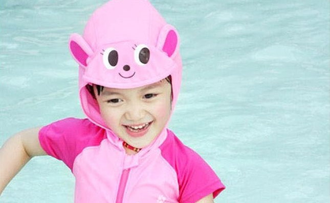 baby girl clothing bathing cap female kids girls professional swimsuit Private joint prevented bask suit - Stone Chang's store