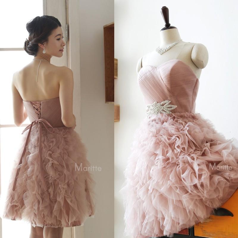 Beautiful-Sweetheart-Beads-Ruffles-Ball-Gown-Blush-Pink-Wedding-Party-Dress-Princess-Dresses