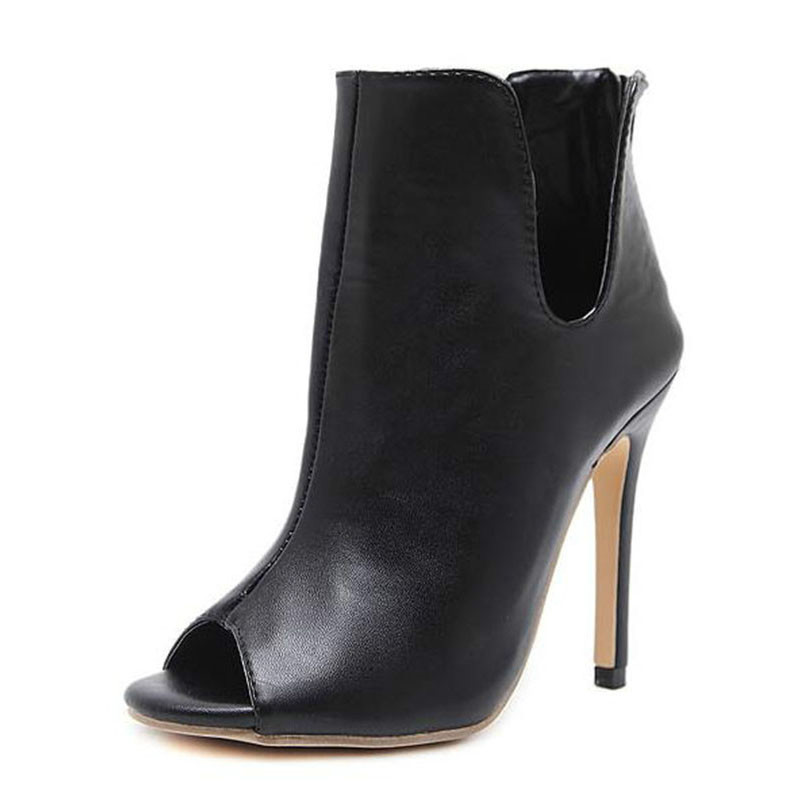 Mujer Mujeres Zapatos Diseño H De Primavera Nuevo Dedo Del Alto Abierto Negro Chelsea Tacón Las 255 Botas Otoño Pie Tobillo FtadUxnOqd
