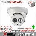 Последним оригинальной английской версии DS-2CD2342WD-я 4MP WDR Exir башни Сетевая камера МИНИКУПОЛ IP-камера видеонаблюдения камеры 2.8mm объектива