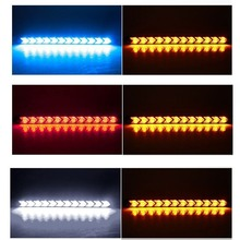 Car DRL led Turn Signal Waterproof fog lamps White/Amber LED Flowing Strip Light Arrow  Daytime Running Style