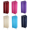 1Pcs 13mm Tubes Single Fabric Canvas Clothes Storage Organiser Wardrobe Cupboard Shelves Home Bedroom Cabinet 6 Colors